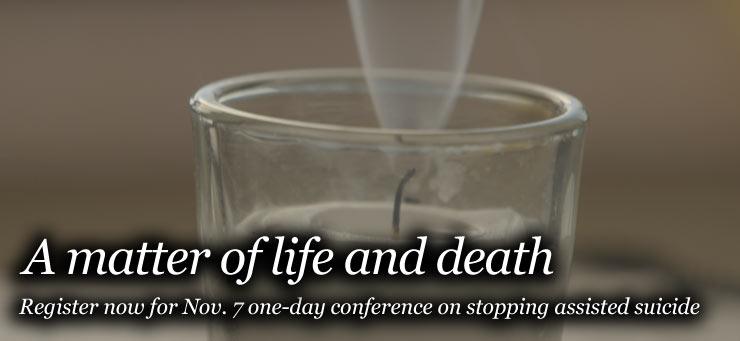 Assisted suicide conference slider